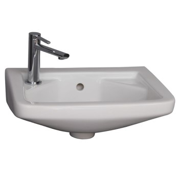 Rectangle Wall Hung Sink with Single Hole Drilling on Left