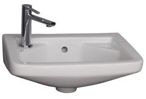 Rectangle Wall Hung Sink with Single Hole Drilling