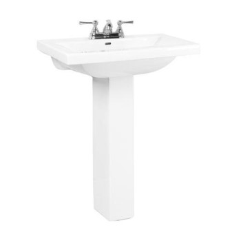 Mistral Pedestal Sink Shown with Centerset Faucet