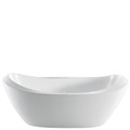 Oval Double Slipper Tub with Modern Angles