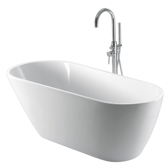 Freestanding Faucet Shown with Tub