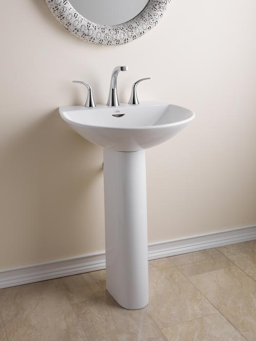 Modern 1/2 Circle Pedestal with Thin Edges