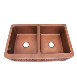 Top View, Center Drains, Same Size Bowls