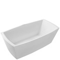 Rectangle Tub with Curved Sides, Wide Rim