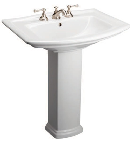 Mansfield Sinks Pedestal : Traditional Pedestal Sink