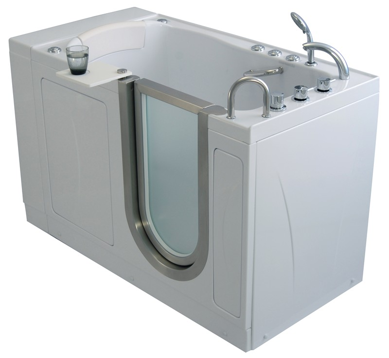 Ella elite walk in bathtub for Walk in tub water capacity