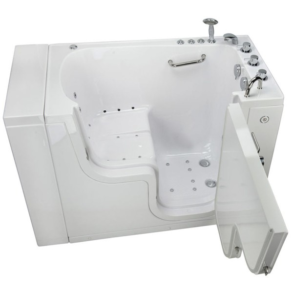 Ella 39 s bubbles transfer walk in bathtub for Walk in tub water capacity