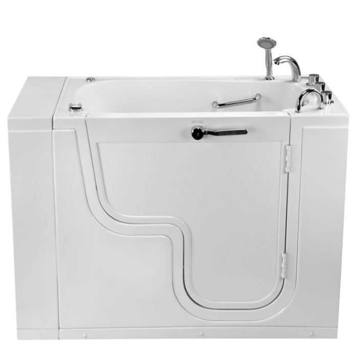 Transfer Tub Front View Showing Extension Panel