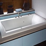 Modern Soaking Tub, Center Drain