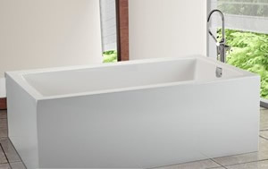 Modern Freestanding Tub with Straight Sides