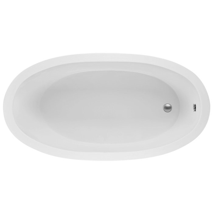 Oval Center Drain Bath with 2 Backrests