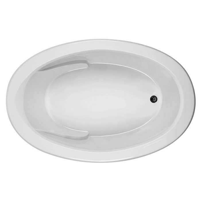 Oval Bath Tub with Arm Rests, Neck Rest & End Drain
