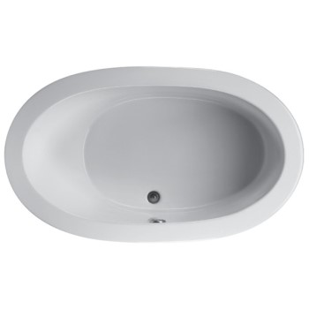 Oval, Center Drain Tub with One Back Rest