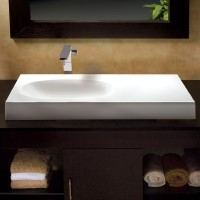 Rectangle Semi-Recessed Sink with Side Counter