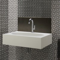 Rectangle Wall Hung Sink with Faucet Deck