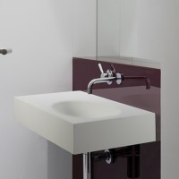 Rectangle Wall Mounted Sink with Side Counter