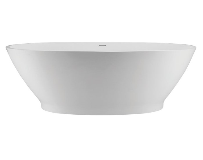 Oval Bath with Slightly Curving Sides, Recessed Base