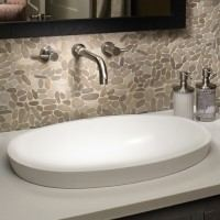 Oval Semi-Recessed Sink Matching Alissa Freestanding Bath
