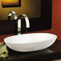 Oval Vessel Sink Matching Elise Bath