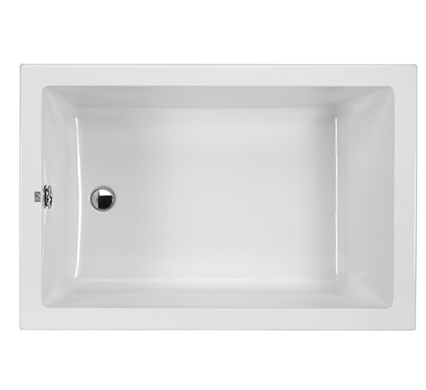 Small Modern Rectangle Tub With Flat Rim