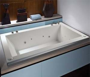 Andrea Drop-in Whirlpool with Deckmount Faucets and Fill by Jet