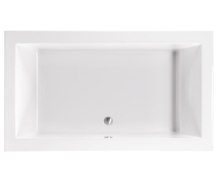 Modern Rectangle Bath with Center Drain