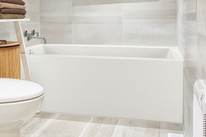 Modern Bath with Flat Panel Front Skirt