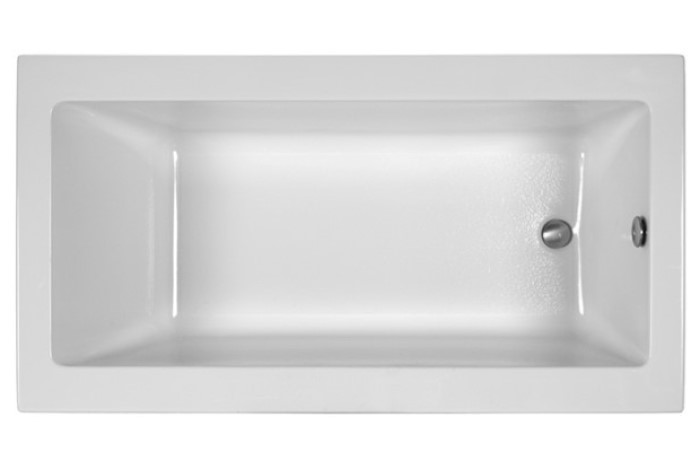 Modern Rectangle Tub with End Drain