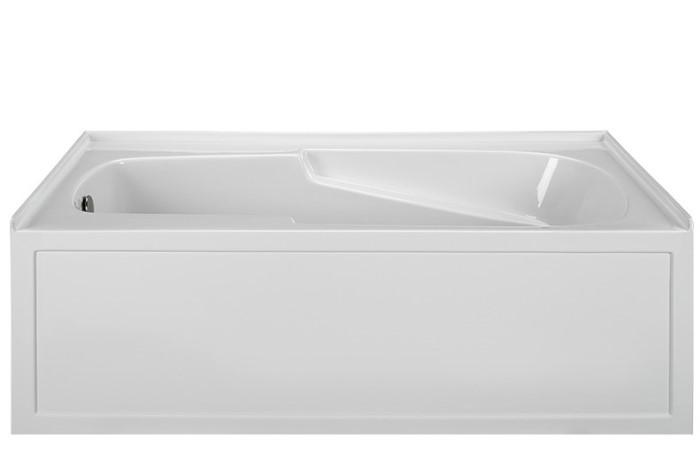 Mti basics mbis6032 soaking heated whirlpool air bathtub for Deep soaking tub alcove