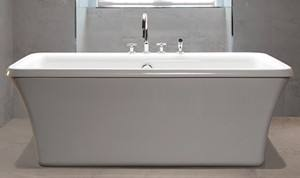 freestanding tub deck mount faucet. Rectangle Freestanding Tub With Deck Mount Faucet Option MTI Basics MBOSFSX6636  Soaking