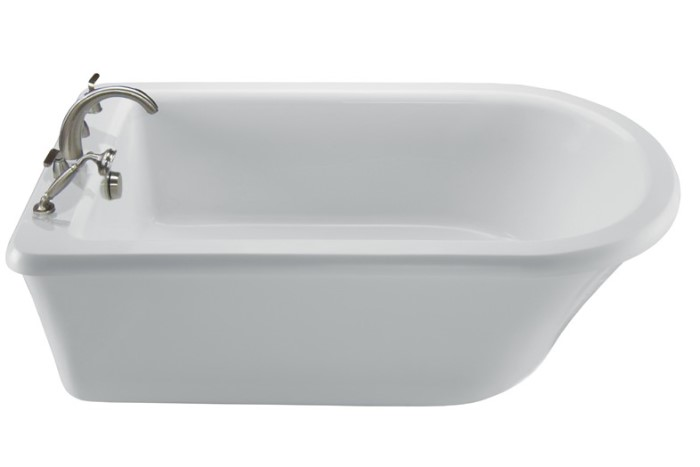 end drain freestanding tub. D Style Freestanding Tub with End Drain and Rolled Rim MTI Basics MBXFSX6636  Soaking