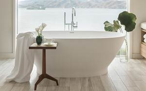 Oval, Stone Freestanding Tub