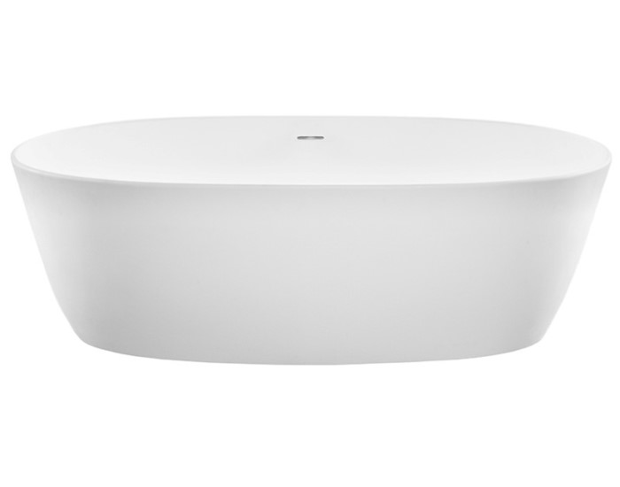 Oval Freestanding Bath with Thin Rim, Angled Sides