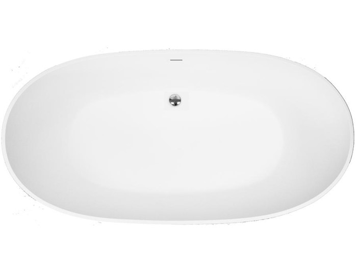 Oval Tub with Center Drain