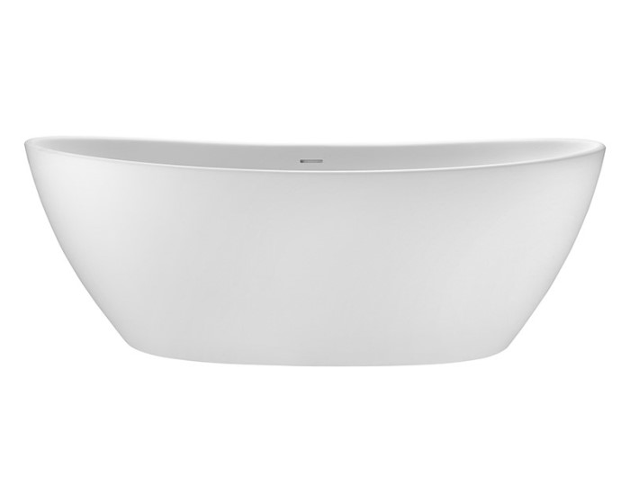 Freestanding Oval Bath with Raised Backrests, Curving Sides