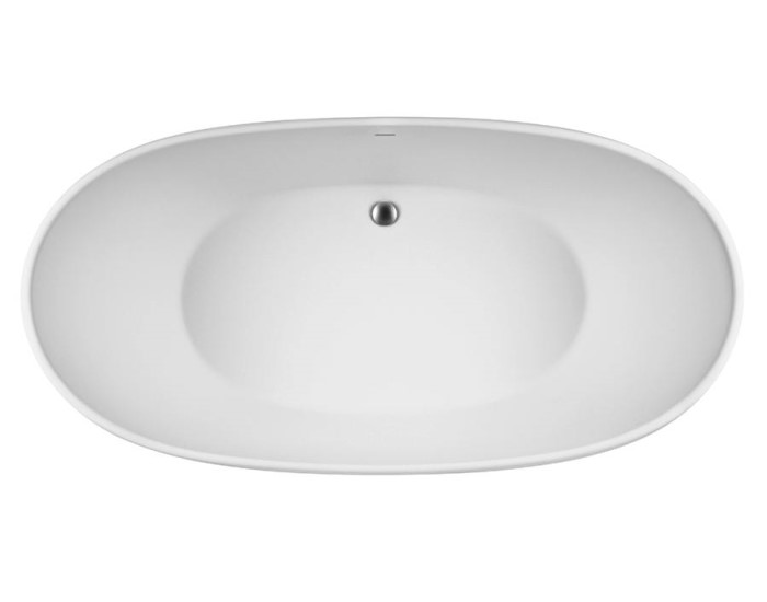Oval Center Drain Bath, Slotted Overflow