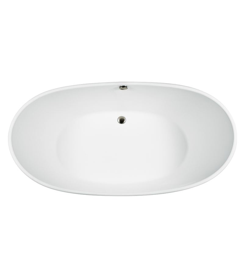 Oval Center Drain Bath
