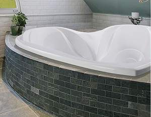 Eros Tub Installed as a Drop-in
