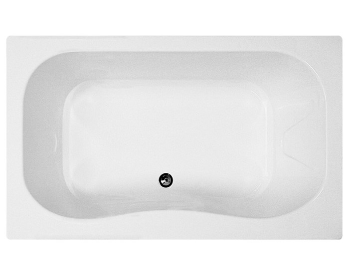 Rectangle Bath with Oval Bathing Well, Side Center Drain