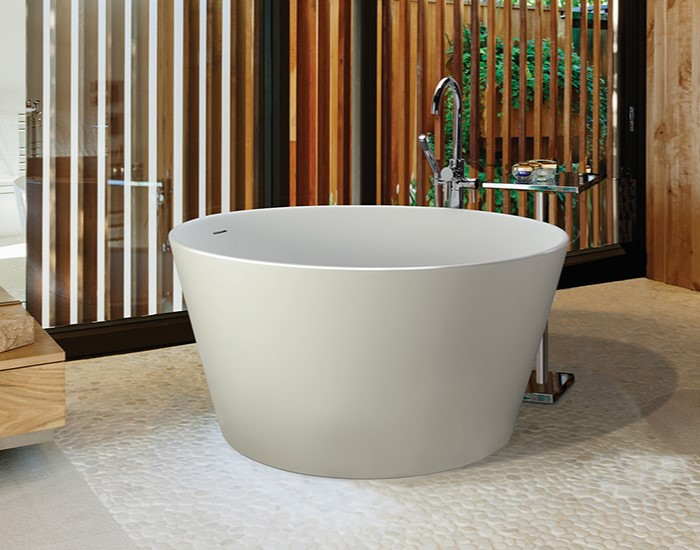 Small, Round Freestanding Japenese Style Bath