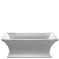 Rectangle Bath with Curving Sides & Pedestal