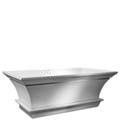 Rectangle Bath with Curving Sides & Inverted Pedestal