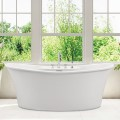 Double Slipper Freestanding Bath with Faucet Deck