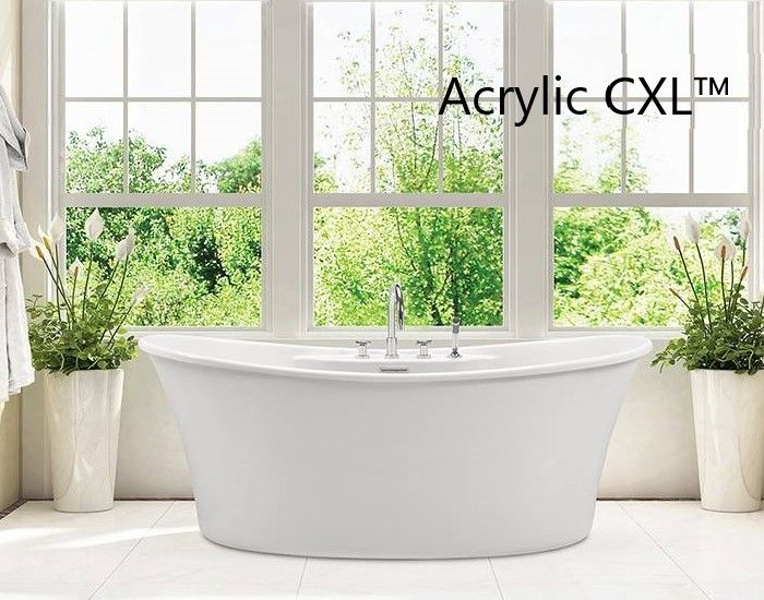 Double Slipper Freestanding Bath with 2 Backrests