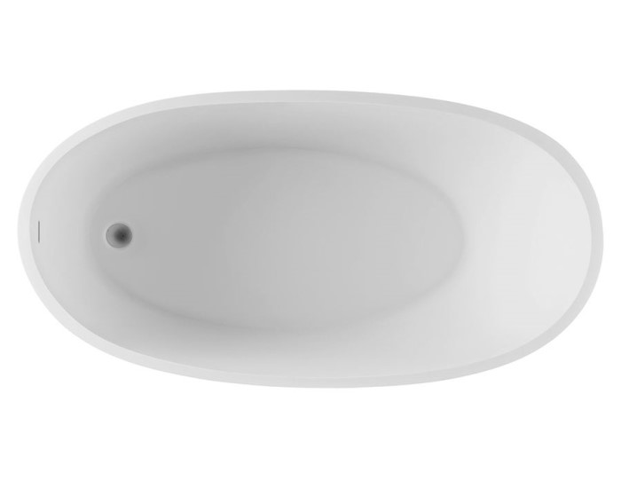 Rectangle Tub with Oval Bathing Area, Center Drain Bath with Slotted Overflow