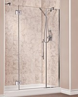 Shower Base with Glass Panel & Door