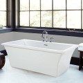 Rectangle Tub, Curving Sides