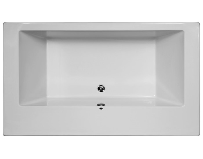 Perfect Modern Rectangle Tub With Wide Rim, Designed For 2