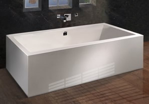 Andrea Sculpted Freestanding Tub with 4 Sided Skirt
