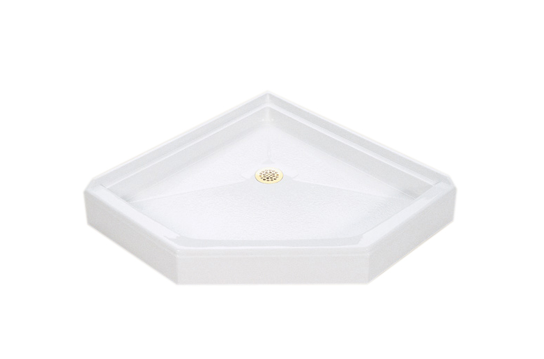 Shower Pans With Seat : Mti neo round angle shower pans or base with seat